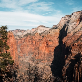 View from the top of Angel's Landing in Zion National Park