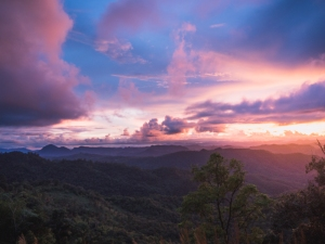 Mountain Sunset in thailand